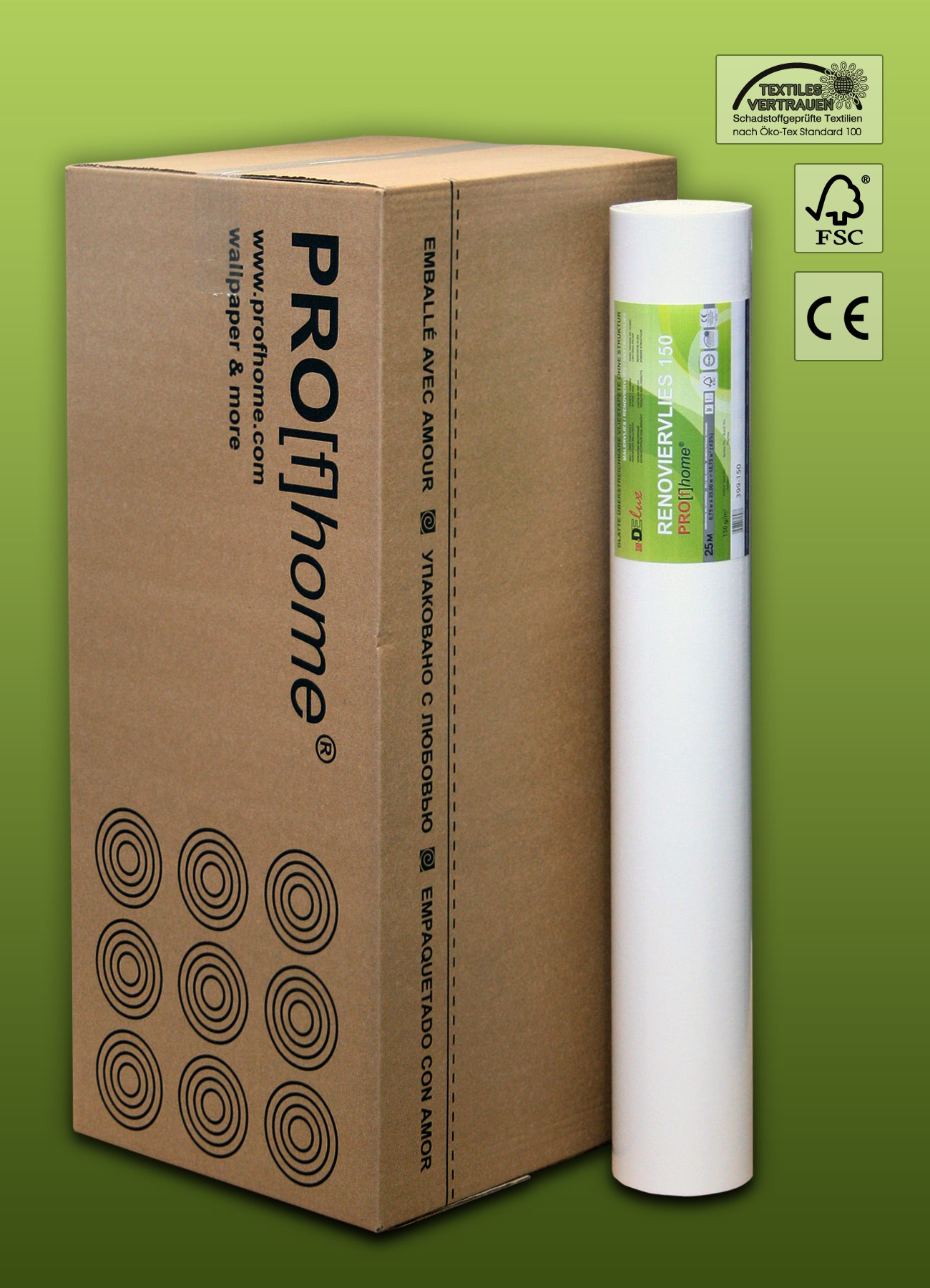 profhome renoviervlies 150 g malervlies saniervlies. Black Bedroom Furniture Sets. Home Design Ideas