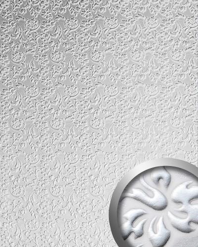 Selbstklebende Tapeten Barock : Barock Blumen selbstklebende Tapete Verkleidung wei? silber 2,60 qm