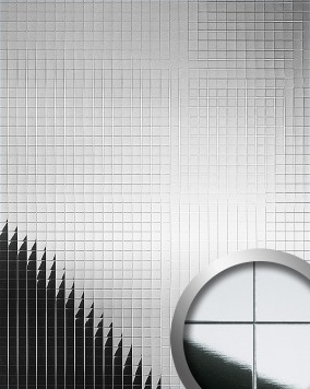 mosaik wandpaneel wallface 10644 m style silber original wallface silber gl nzend spiegelnd. Black Bedroom Furniture Sets. Home Design Ideas