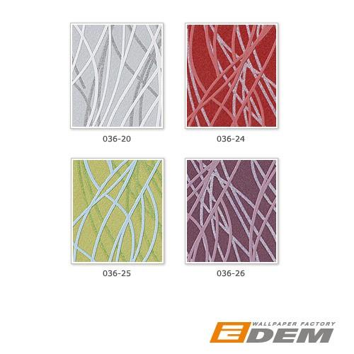 Vinyl Tapeten Hersteller : Tapeten MUSTER EDEM 036-Serie Abstrakte Linien Streifen Designer
