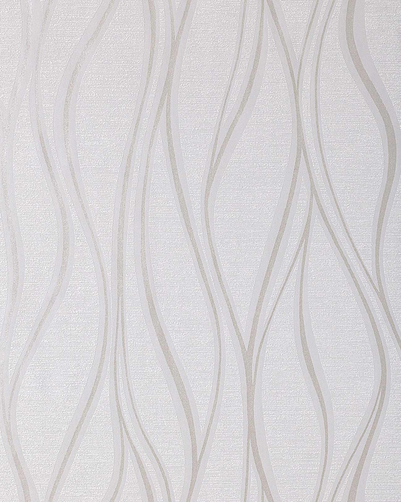 Edem 147 02 linien wellen design streifen tapete hell grau for Tapeten silber grau weiss