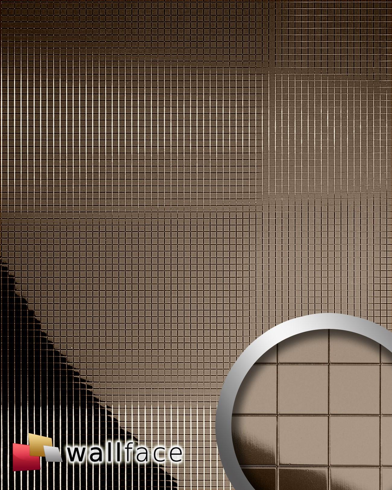 10552 M Style Panneau Autocollant Mosaïque Miroir Brun 0 95 M2