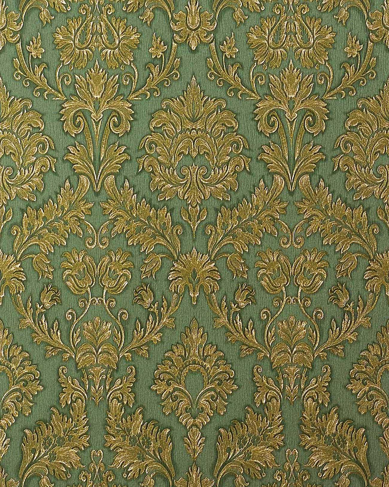 Hochwertige Tapeten G?nstig : Gold Damask Wall Vinyl