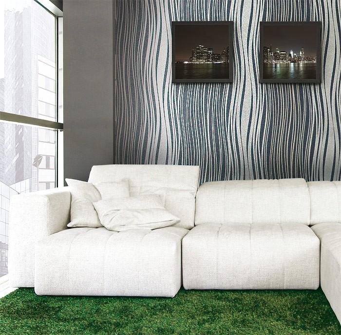 edem 695 94 designer linien streifen vliestapete himbeerrot silber gold 10 6 qm kaufen bei. Black Bedroom Furniture Sets. Home Design Ideas