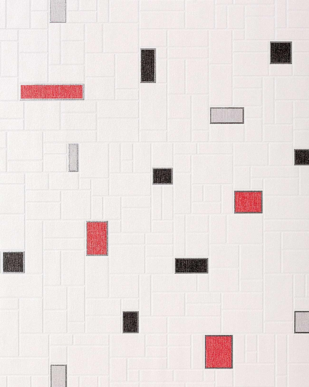 edem 584 26 dekor vinyl tapete fliesen kacheln mosaik stein optik wei schwarz ebay. Black Bedroom Furniture Sets. Home Design Ideas