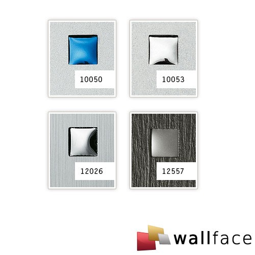 Wallface 12026 3d quad panneau autocollant inox mat carr s for Panneau inox autocollant