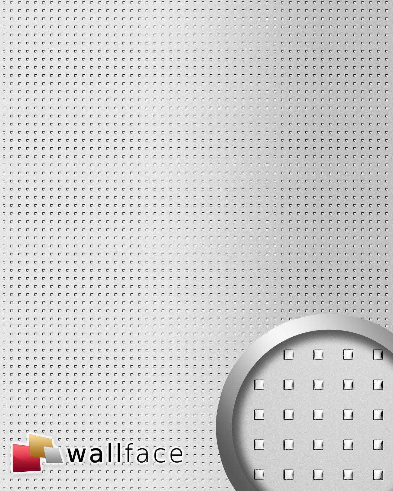 Wallface 12551 3d quad panneau autocollant t le perfor e for Panneau inox autocollant