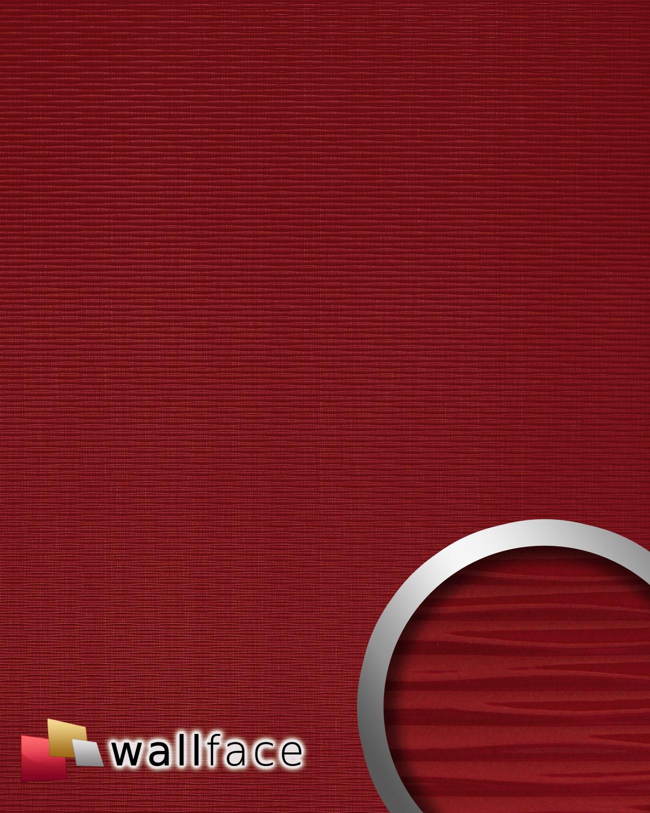 Wallface 15765 Motion Two Wandverkleidung 3D Wellen Rot 2 ...