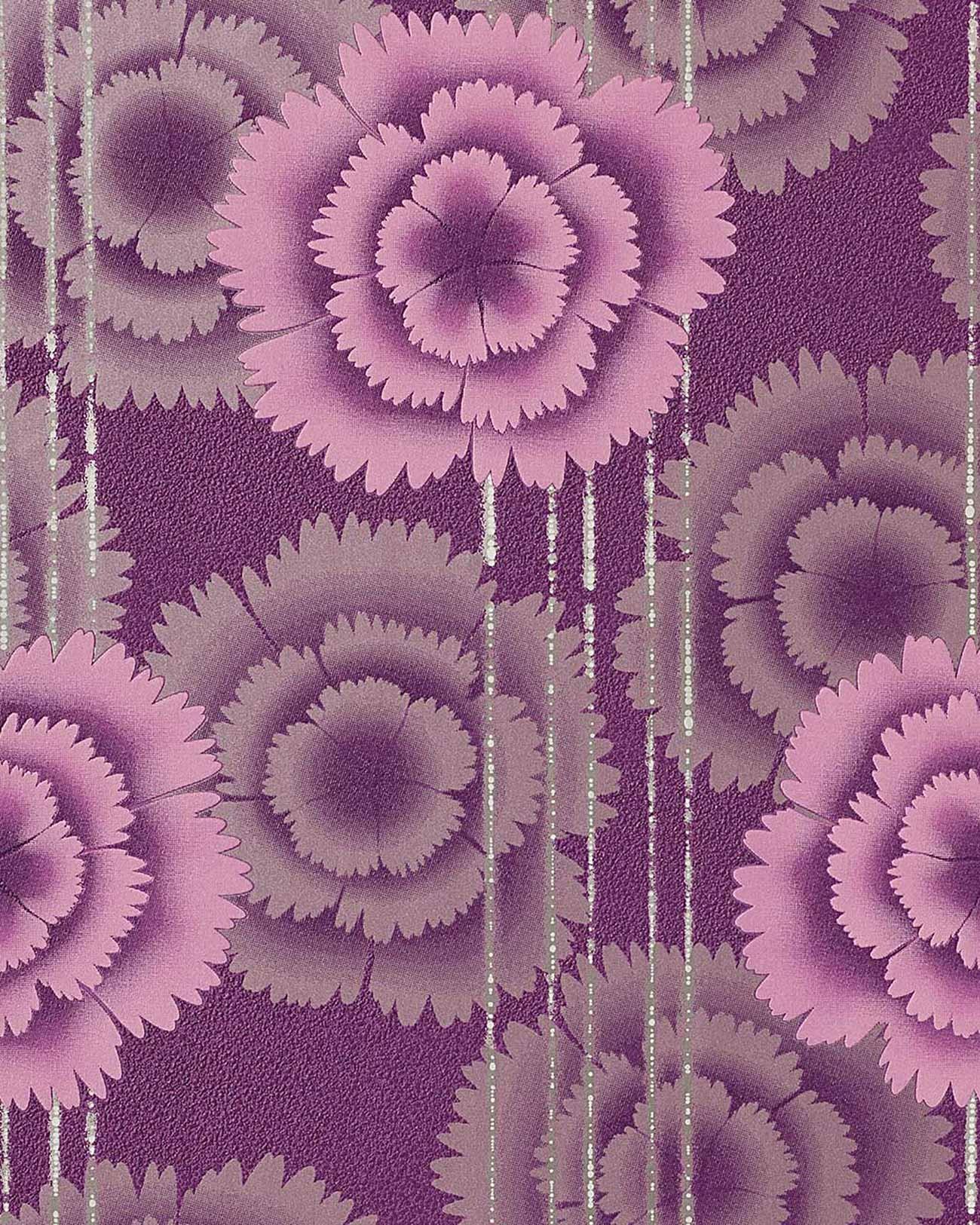 Edem 056 24 papel pintado de dise o flores retro a os 70 - Papel pintado anos 70 ...