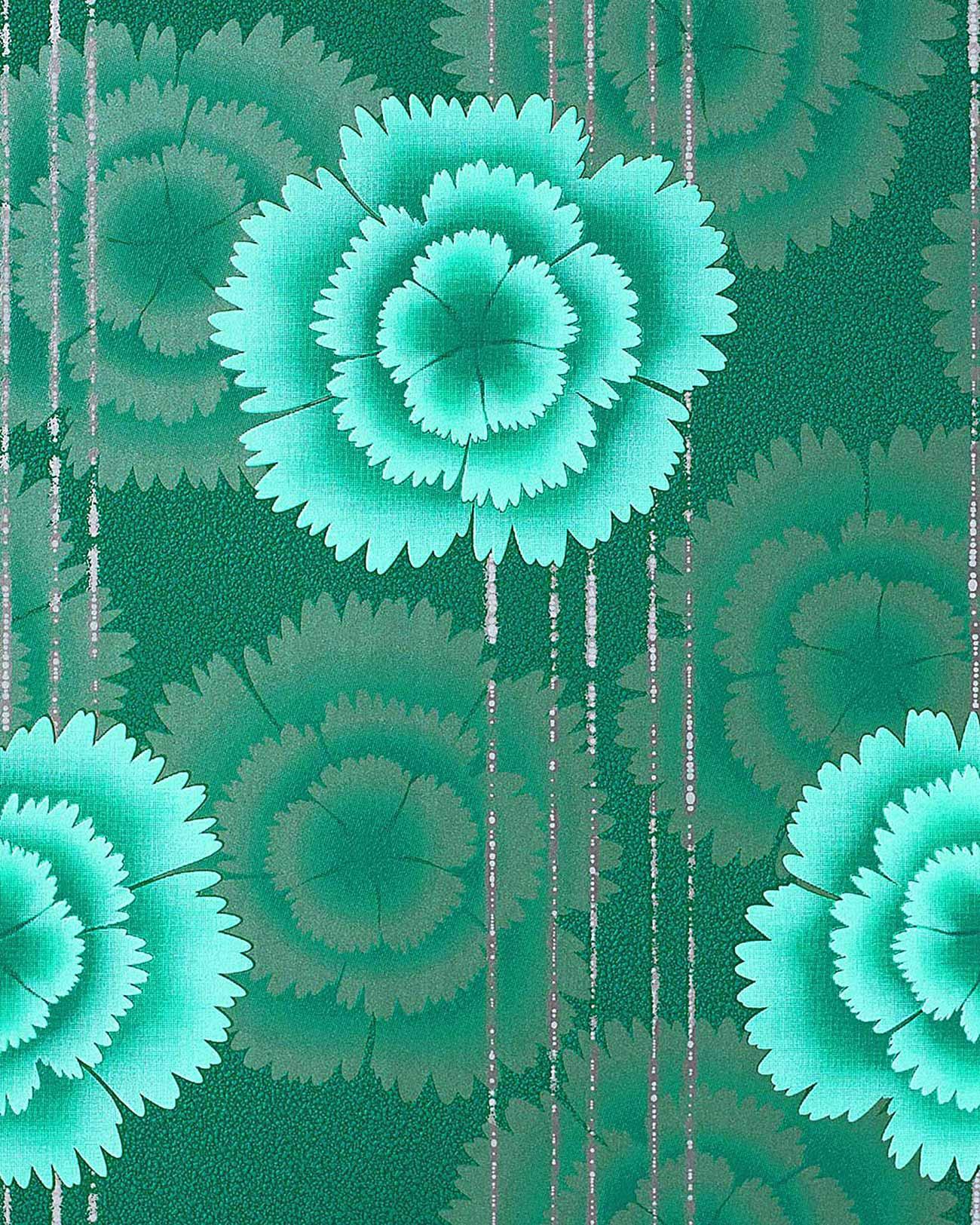 Edem 056 25 papel pintado de dise o flores retro a os 70 - Papel pintado anos 70 ...