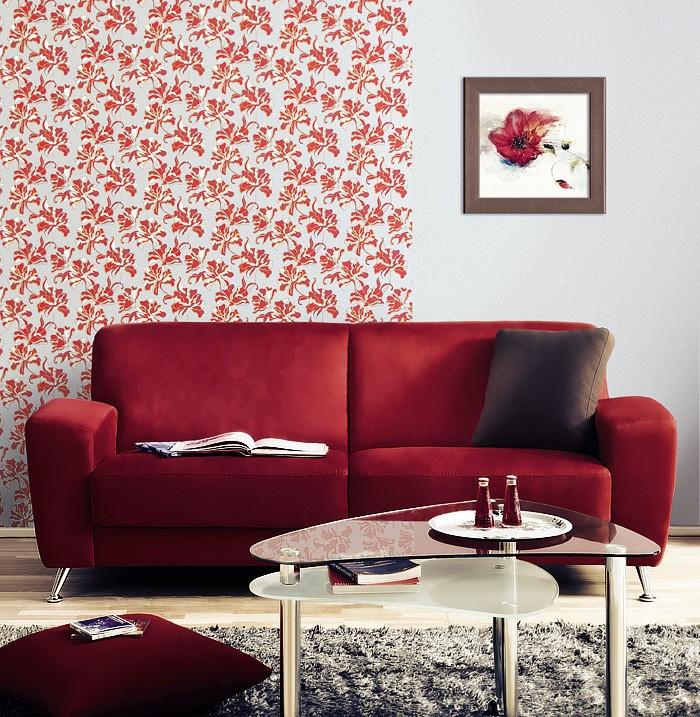 tapete wohnzimmer rot: Tapeten Design Rot Weià Wohnzimmer Ideen Cybele on Pinterest