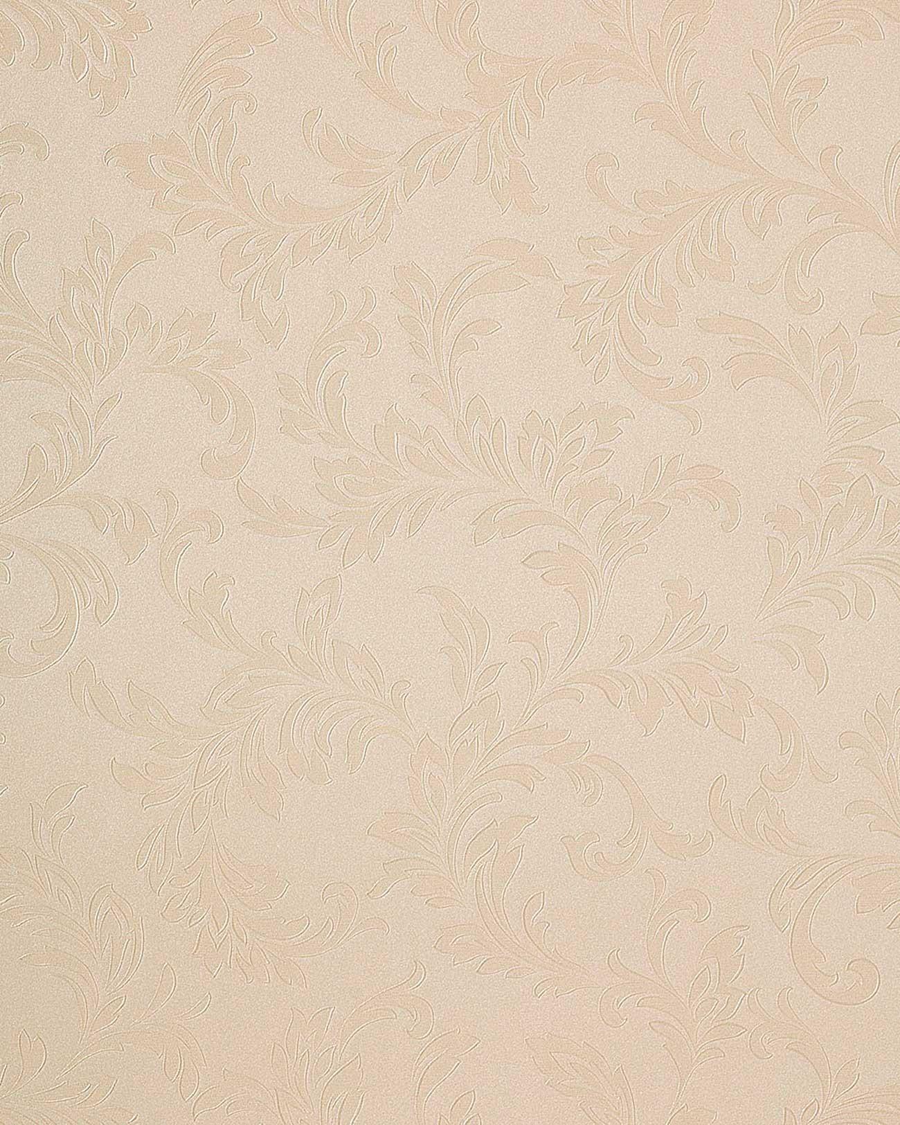 Edem 762 27 papel pintado floral tono sobre tono relieve for Papel pintado tonos beige