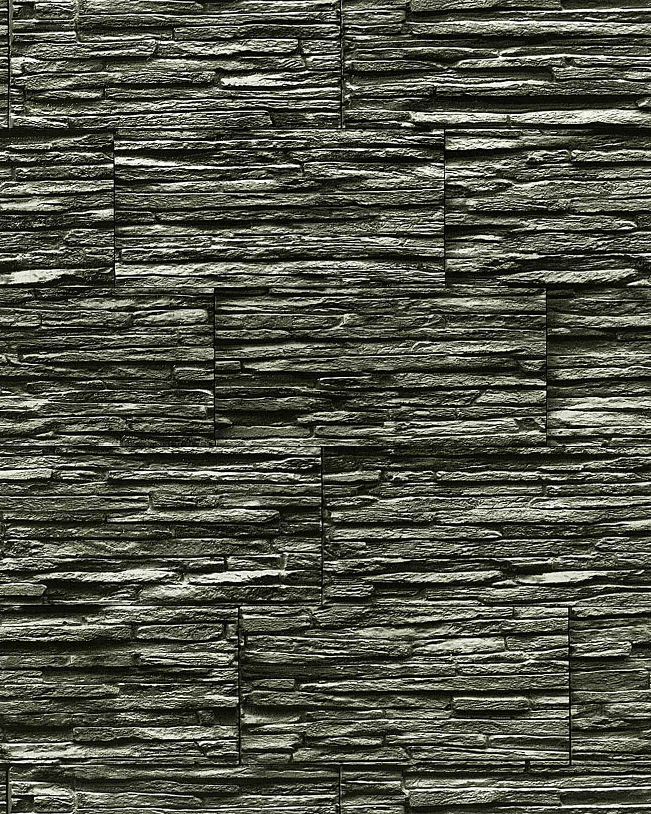 Edem 1003 34 vinyl wallpaper textured stone natural brick for Gray vinyl wallpaper