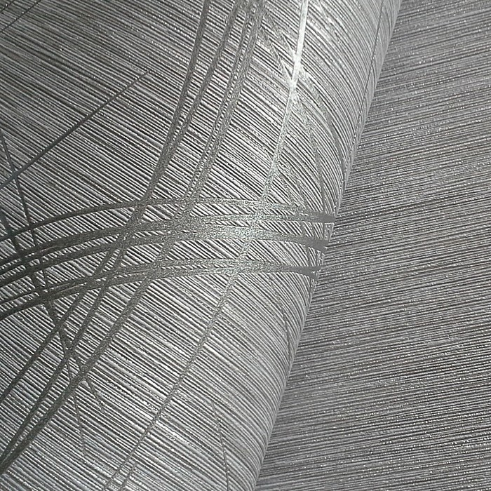 Grafische Tapeten Muster : Grey and Silver Metallic Wallpaper