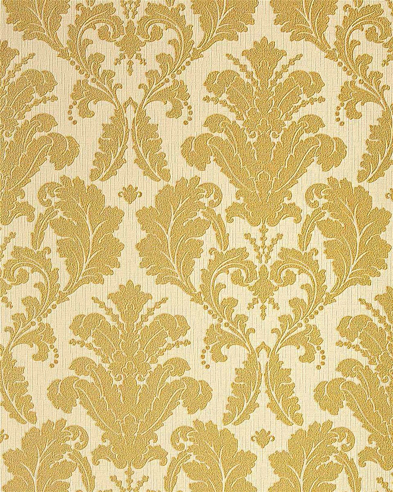Edem 752 31 luxury heavyweight baroque damask vinyl for Gold wallpaper for walls