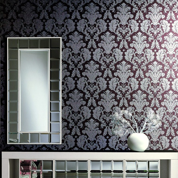 Barock Tapeten Retro Design Tapete : Gold Damask Wall Vinyl