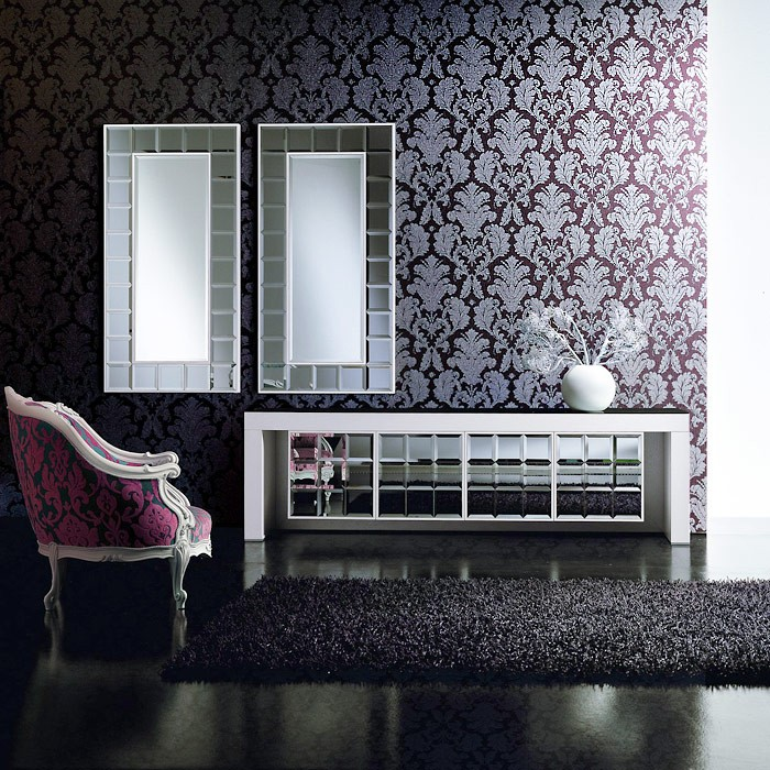 barock tapete edem 752 35 luxus neo damask tapete cigar braun platin grau. Black Bedroom Furniture Sets. Home Design Ideas