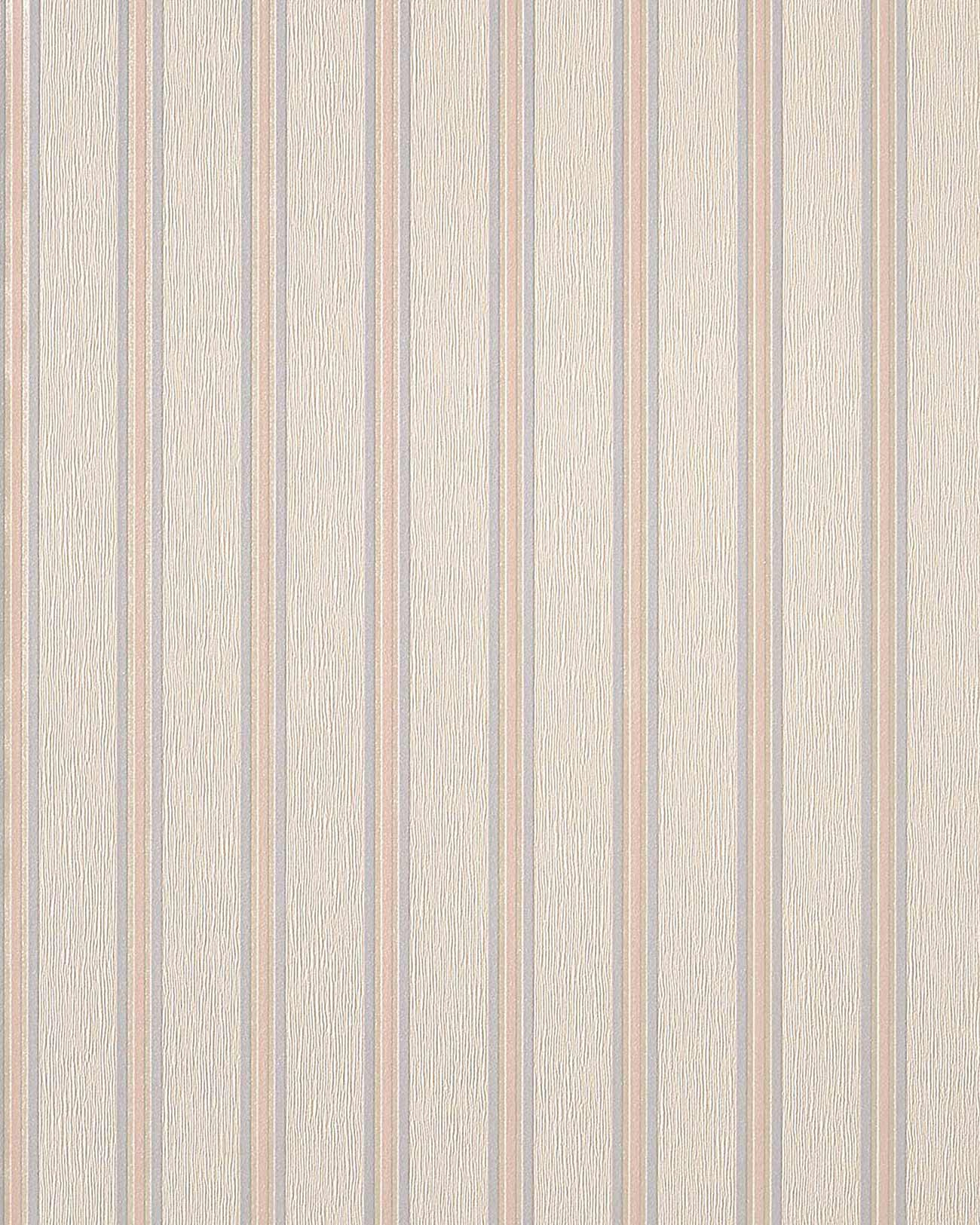 tapete wohnzimmer hell: 33 Stilvolle Design Streifen Tapete beige creme hell violett hell rosa