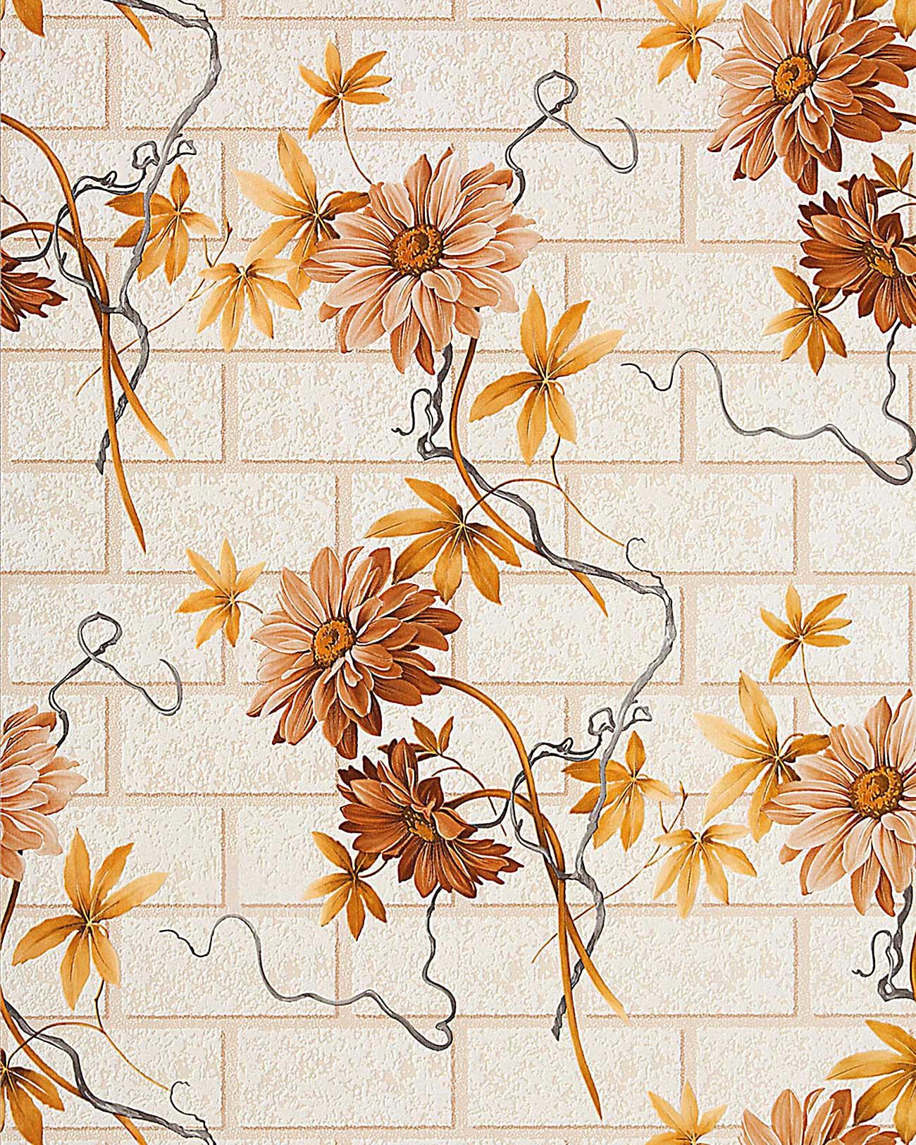 Edem 1000 33 carta da parati disegno muro finto mattoni in for Carta da parati effetto muro finta pietra