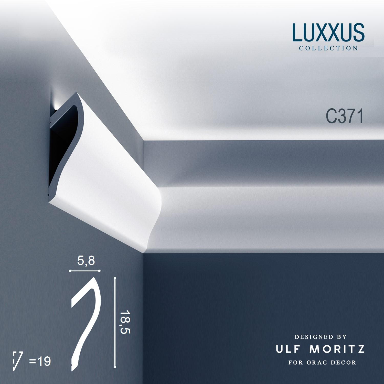 Eckleiste orac decor luxxus ulf moritz c371 deckelleiste - Elementi decorativi in polistirolo per interni ...
