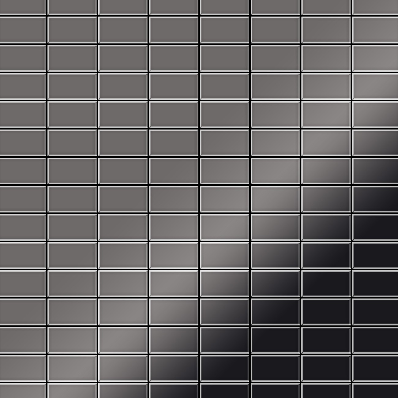 Metallmosaik fliesen aus massivem titan hochgl nzend in for Bauhaus 3d tapete