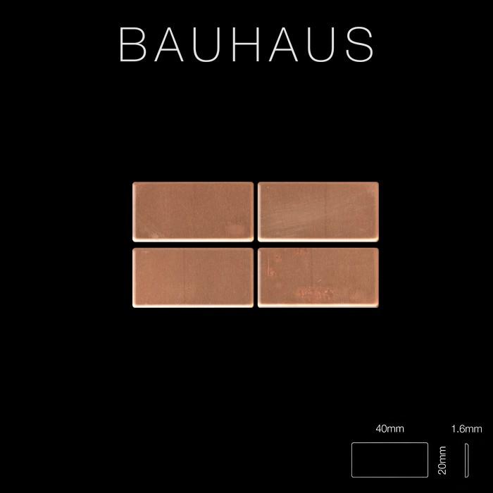 Bauhaus Tapeten Kollektion : in kupfer 1,6mm stark Artikel Bauhaus-CM aus Bauhaus Kollektion