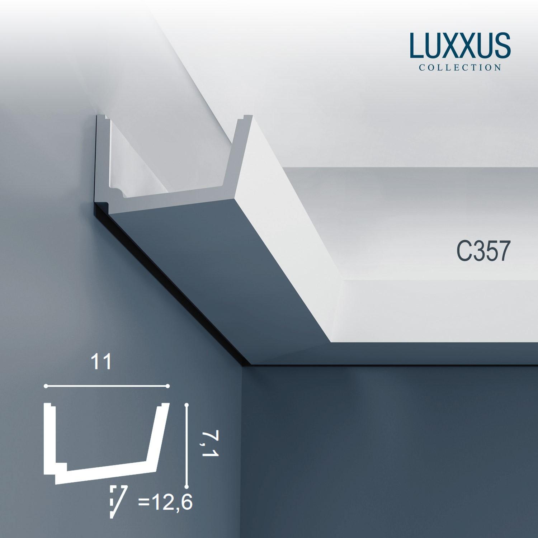 Orac Decor C357 LUXXUS Cornice Moulding Indirect lighting system  2 m ...