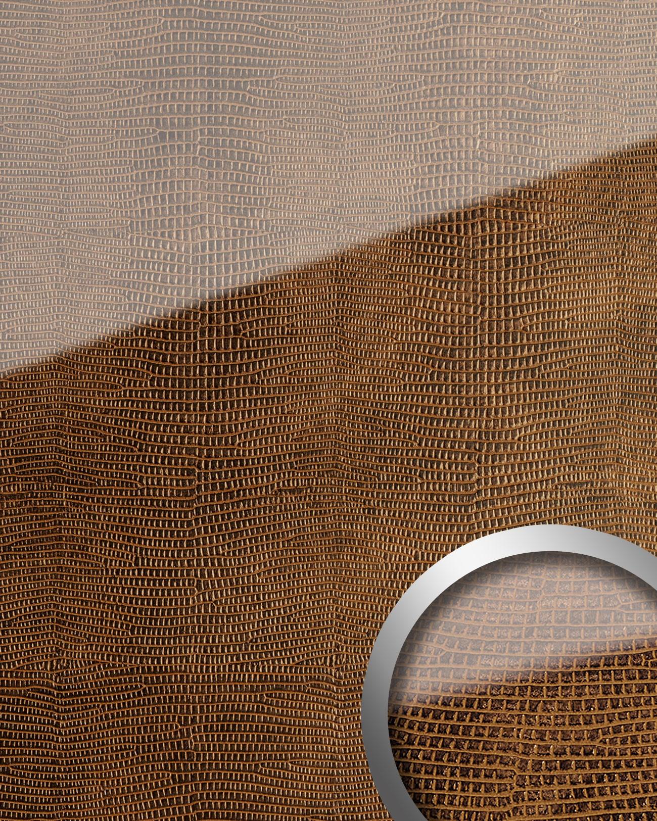 wandpaneel glas optik wallface 16972 leguan kupfer braun original wallface braun kupferbraun. Black Bedroom Furniture Sets. Home Design Ideas