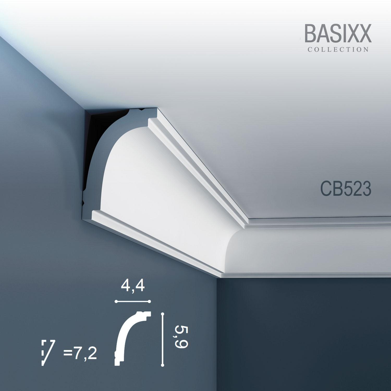 Orac decor cb523 basixx cornice soffitto e parete stucco - Stucco decorativo per pareti ...