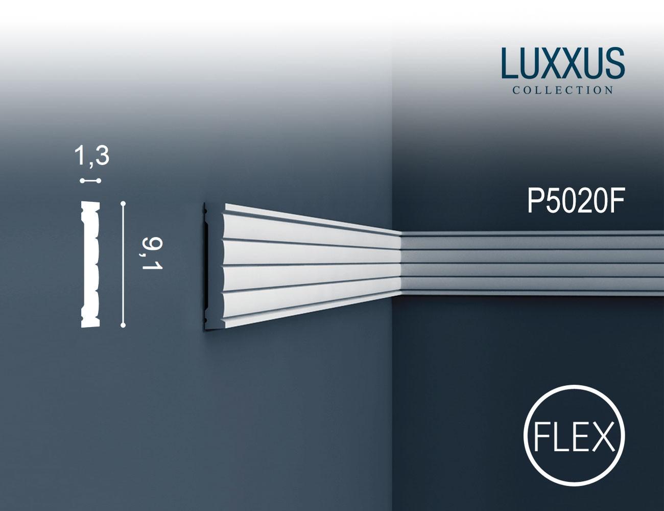 Orac decor p5020 luxxus flexi friesleiste wand leiste stuck dekor zierprofil 2 m original orac - Wand zierleiste ...