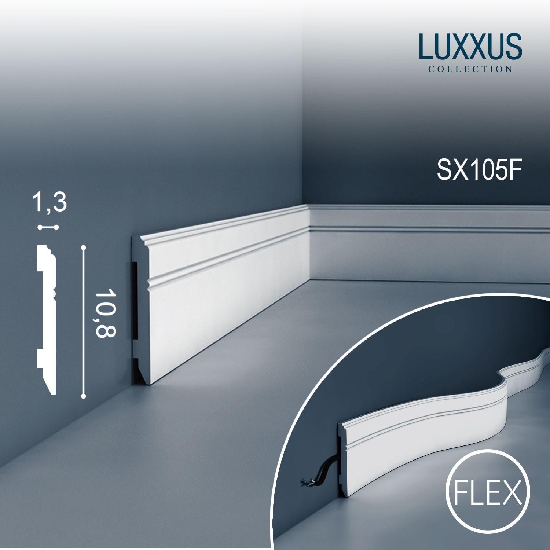 orac decor sx105f luxxus flexible sockel leiste fu leiste. Black Bedroom Furniture Sets. Home Design Ideas