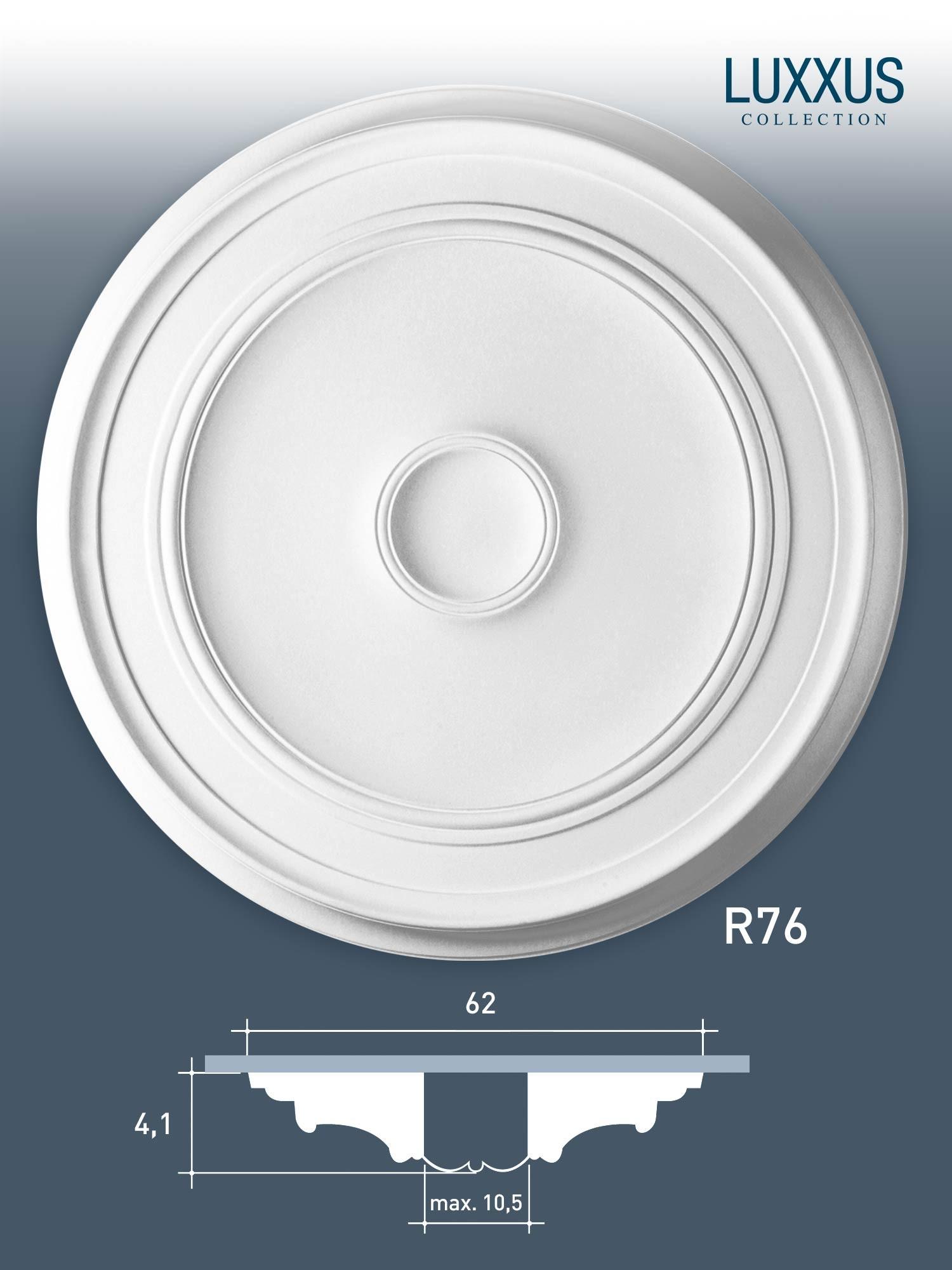 deckenrosette medallion orac decor r76 luxxus stuck rosette lampenschirm 62 cm original orac. Black Bedroom Furniture Sets. Home Design Ideas