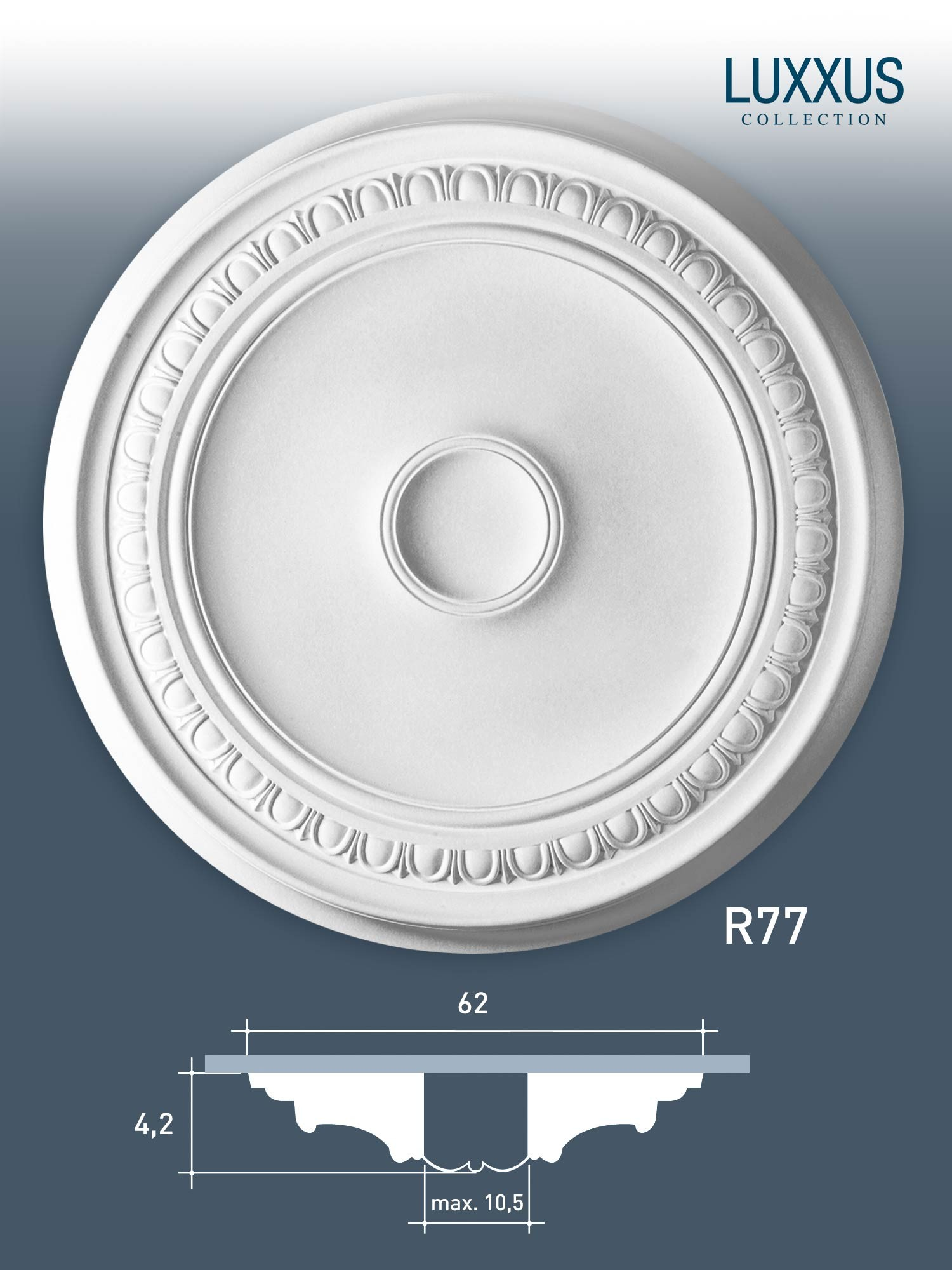 Deckenrosette Medallion Orac Decor R77 LUXXUS Stuck ...