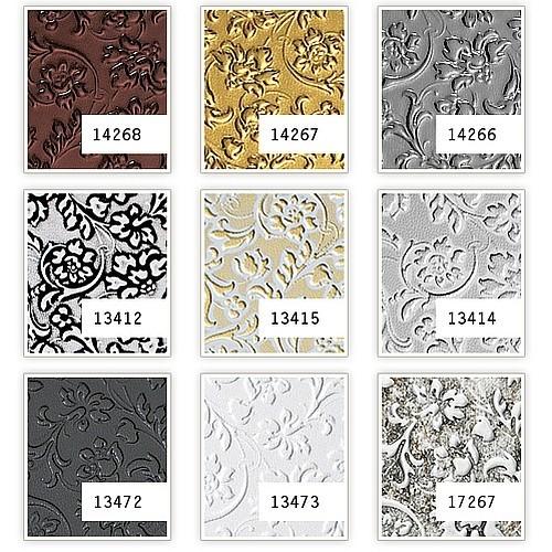 Selbstklebende Tapete Barock : Dekor Barock Blumen selbstklebende Tapete Wandbelag schwarz 2,60 qm