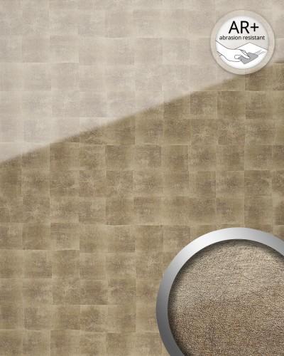 wandpaneel glas optik wallface 17841 luxury cubes muster bronze grau original wallface bronze. Black Bedroom Furniture Sets. Home Design Ideas