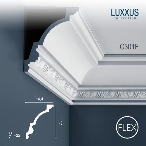 flexible eckleiste orac decor luxxus c301f deckelleiste zierleiste st ckleiste original orac. Black Bedroom Furniture Sets. Home Design Ideas
