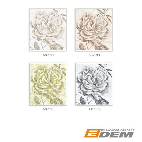 Tapete Florales Muster Gr?n : Rose Flower White Floral Textured Grey Wallpaper