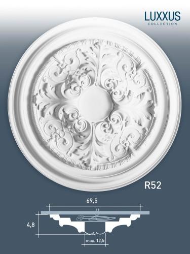 deckenrosette medallion orac decor r52 luxxus rosette stuckrosette 69 cm original orac decor. Black Bedroom Furniture Sets. Home Design Ideas