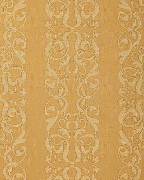 Edem 829 22 barock streifen tapete damask muster safran for Tapete gelb muster