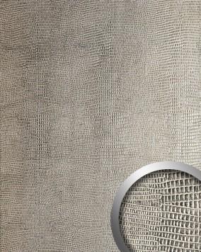 wandpaneel leder optik wallface 12893 leguan original wallface silber metallisch gl nzend. Black Bedroom Furniture Sets. Home Design Ideas