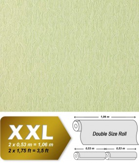 EDEM 930-35 luxury heavyweight non-woven wallpaper fabric textile look white-green silver shimmer 10,65 sqm (114 sq ft)