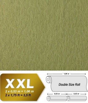 EDEM 930-38 luxury heavyweight non-woven wallpaper fabric textile look  olive green gold shimmer 10,65 sqm (114 sq ft)