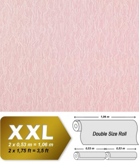 EDEM 930-39 luxury heavyweight non-woven wallpaper fabric textile look light pink rosa silver | 10,65 sqm (114 sq ft)