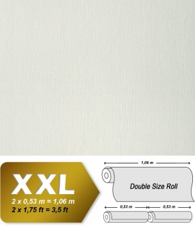 Plain wallpaper non-woven embossed texture EDEM 901-10 fabric textile look oyster white cream | 10,65 sqm (114 sq ft)