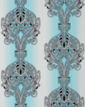 Edem 096 22 3d tapete barock damask moderne prunkvolle for Tapete ornament blau