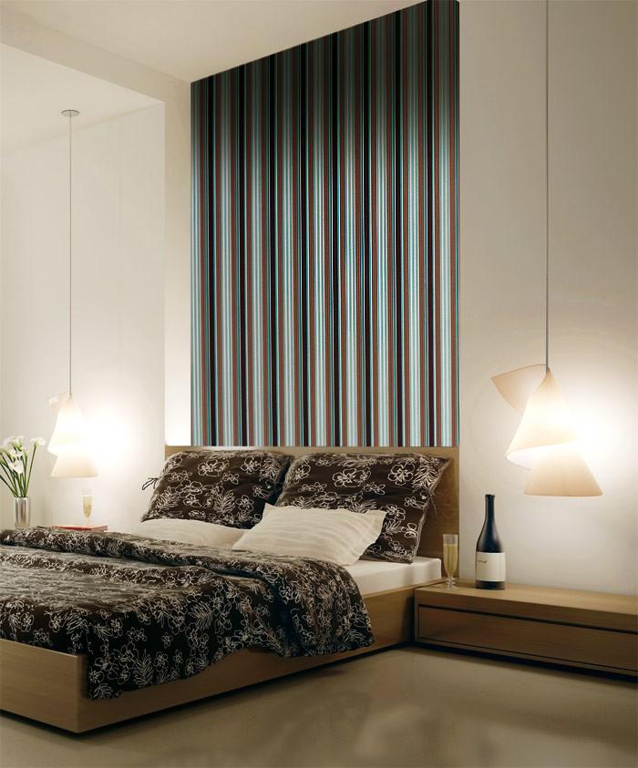 Wohnzimmer Grun : Edem hochwertige streifen tapete elfenbein lila ...