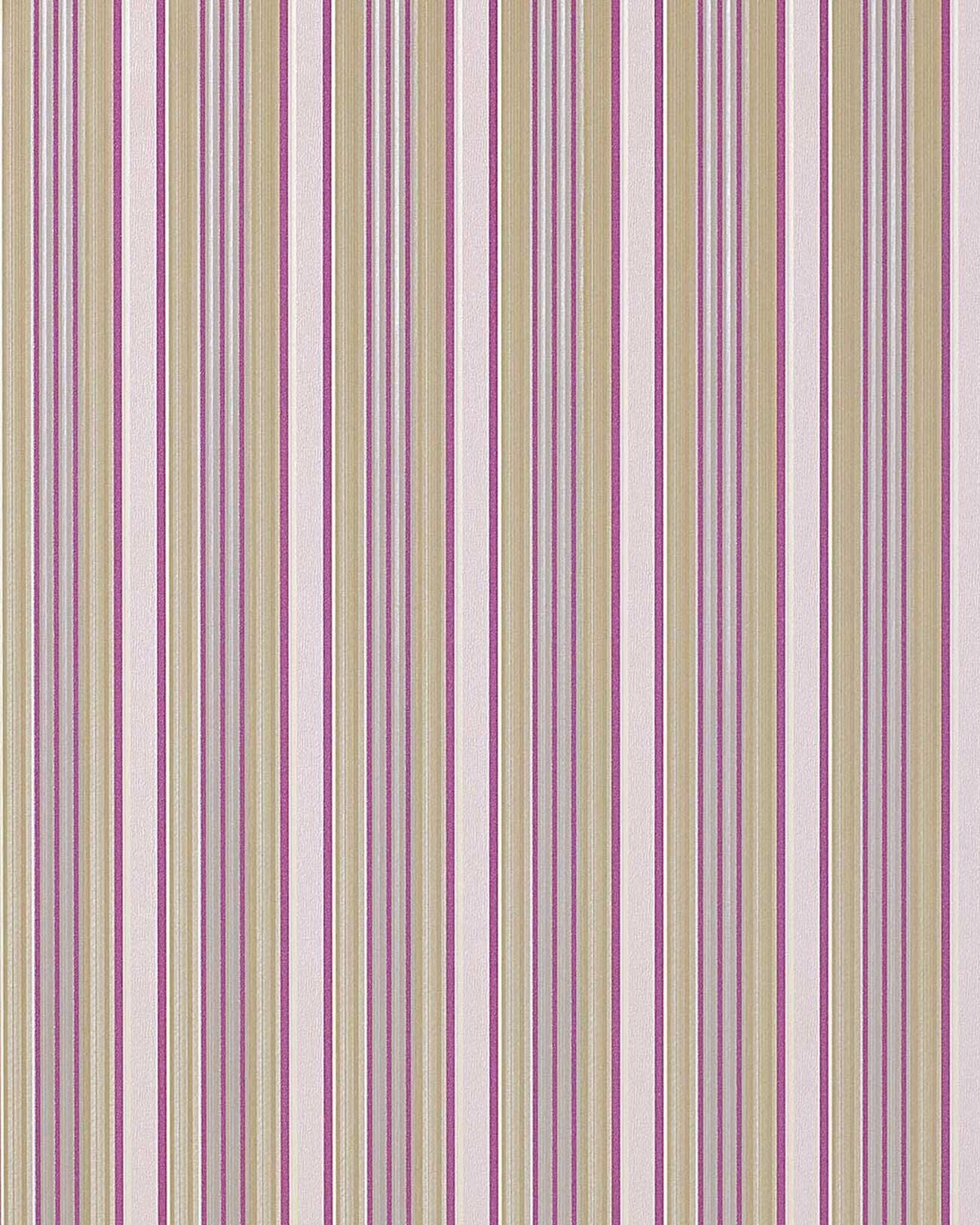 Hochwertige Moderne Tapeten : Tapeten : EDEM 825-25 hochwertige streifen tapete elfenbein lila gr?n