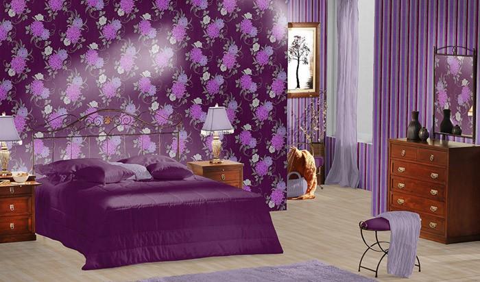 Edem 825 29 deluxe pr ge streifen tapete violett lila for Tapeten in lila