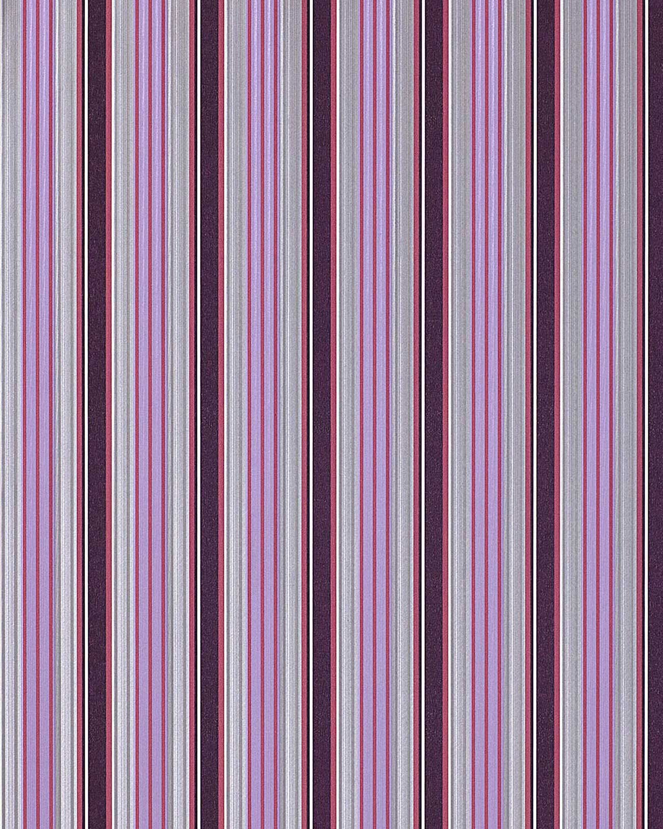Edem 825 29 deluxe pr ge streifen tapete violett lila for Tapete lila silber