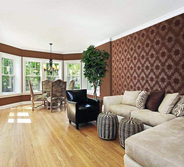 design wohnzimmer tapeten ideen braun tapeten wohnzimmer beispiele ...